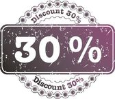 Stamp Discount thirty percent — Stockfoto