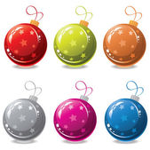 Vector set of christmas balls — Stockvektor