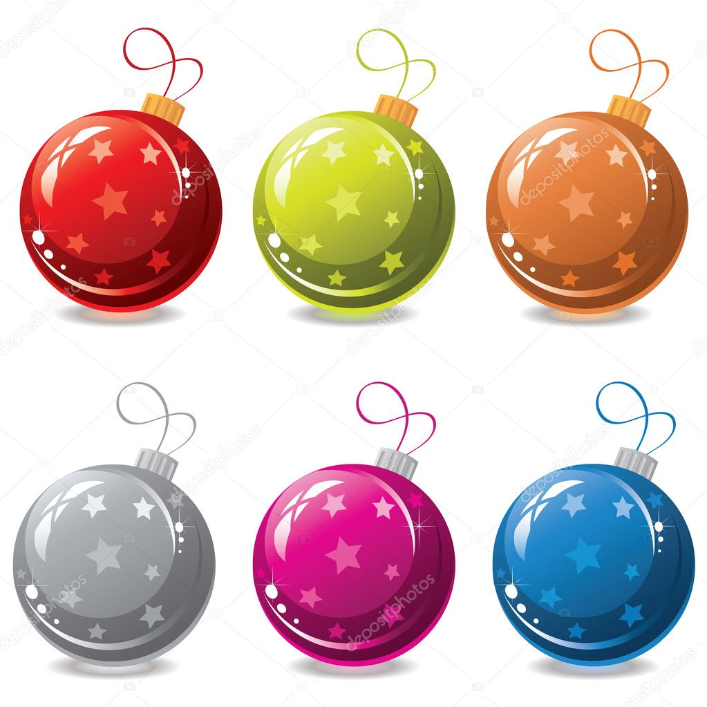 Vector set of christmas balls — Stock Vector #12199905
