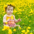 Happy little girl on the meadow — Stock Photo