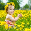 Stock Photo: Happy little girl on the meadow