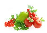 Fresh vegetables isolated — Stock Photo