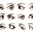 Human eye in various positions - Lizenzfreies Foto