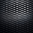 Hexaconal metal honeycomb grid - Stock Photo