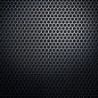 Hexaconal metal honeycomb grid — Stock Photo