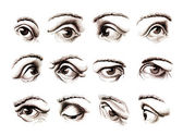 Human eye in various positions — Stock Photo