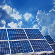 Solar panels blue sky — Stock Photo