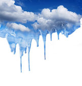 Dripping blue sky fantasy — Stock Photo