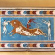 Постер, плакат: Minoan mural fresco bull fighters