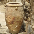Ancient Minoan amphora vase - Stock Photo