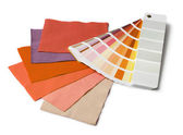 Color and fabric samples — Stock Photo