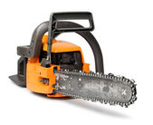 Big chain saw front view — Stock Photo