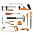 Hand tools kit isolated — Stock Photo #12364468