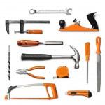 Hand tools kit isolated — Stock Photo