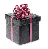 Stylish black present box — Stock Photo