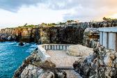 Terrace, rocks, ocean near Boca de Inferno Portugal — Stock Photo