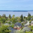 Stock Photo: View over neighboorhood in West Seattle. WA.