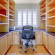 Small home office with shelves and desk. — Stock Photo #11406241