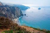 Blue Pacific Ocean California shire line amazing view. — Stock Photo