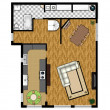 2D floor plan of the first level. - Stockfoto