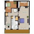 2D floor plan of the house second level. — Stock Photo