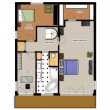 2D floor plan of the house second level. - Stock Photo