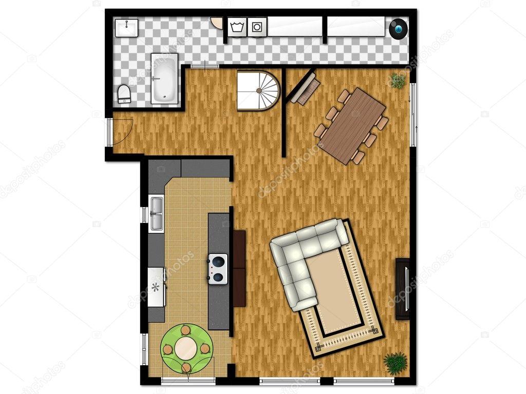 Plano 2d de primer nivel foto de stock iriana88w 11886729 for 2d room planner