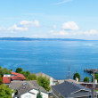 Tacoma, WA. American town on the Puget Sound water view. - Foto de Stock