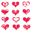 Stock Vector: Stylized hearts collection