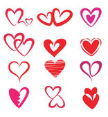 Stylized hearts collection — Stock Vector