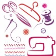 Royalty-Free Stock Imagem Vetorial: Sewing tools and objects set