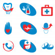 Stok Vektör: Set of medicine icons