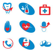 Set of medicine icons — Stock Vector