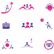 Buisness concept set of icons - Stock Vector