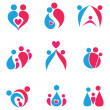 Royalty-Free Stock Vector Image: Family set of icons