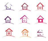 Home collection of vector icons — Stock Vector