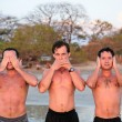Stock Photo: Hear, See, and Speak No Evil