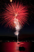 Large Red Fireworks — Stock Photo