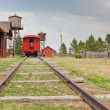 Stock Photo: Old West Train Station