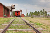 Old West Train Station — Stock Photo