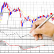 Hand write finance graph for trade stock market on the whiteboard. — Stock Photo #11369859