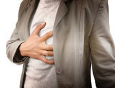 Businessman Suffering From Heart Attack. — Stock Photo