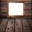Stock Photo: Photo frame on the wood texture.