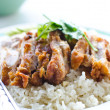 Thai chicken food with rice. — Stock Photo #11532692