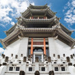 Chinese temple with the blue sky — Stok fotoğraf
