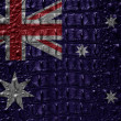 Vintage Australia flag with crocodile skin. - Stock Photo