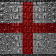 Vitage England flag with crocodile texture - Stock Photo