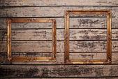 Fotoframe op de houtstructuur. — Stockfoto