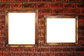 Molduras para fotos na parede. — Fotografia Stock