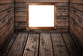 Photo frame on the wood texture. — Stock Photo